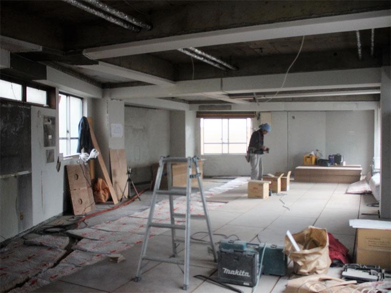 スタジオよもだ レンタルスタジオ・レンタルスペース 新フロア工事011501