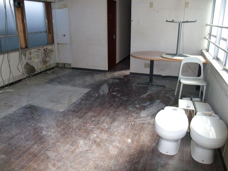 スタジオよもだ レンタルスタジオ・レンタルスペース 新フロア工事011505