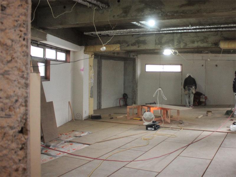 スタジオよもだ レンタルスタジオ・レンタルスペース 新フロア工事011503