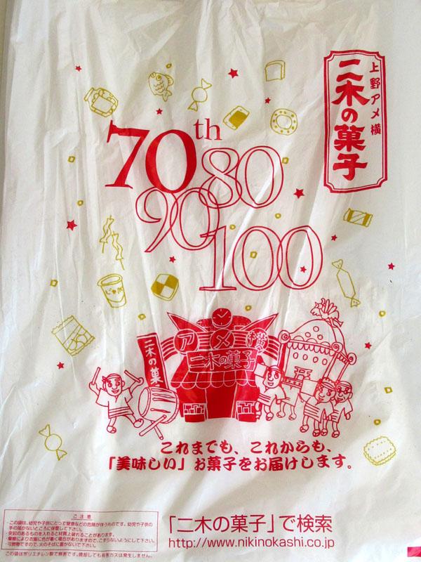 スタジオよもだ → 上野アメ横 二木の菓子