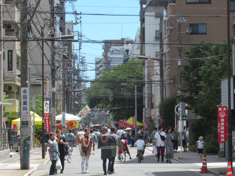 スタジオよもだ → 矢先稲荷神社 合羽橋