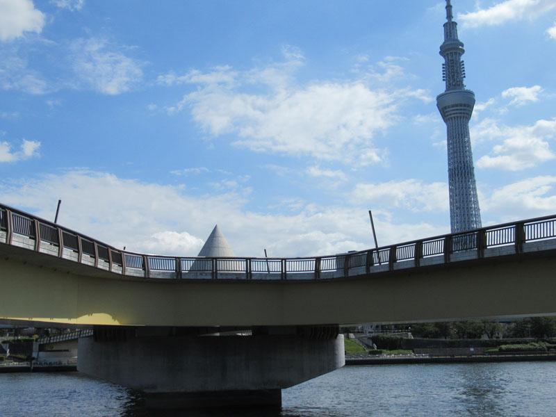 スタジオよもだ → 隅田川テラス 桜橋